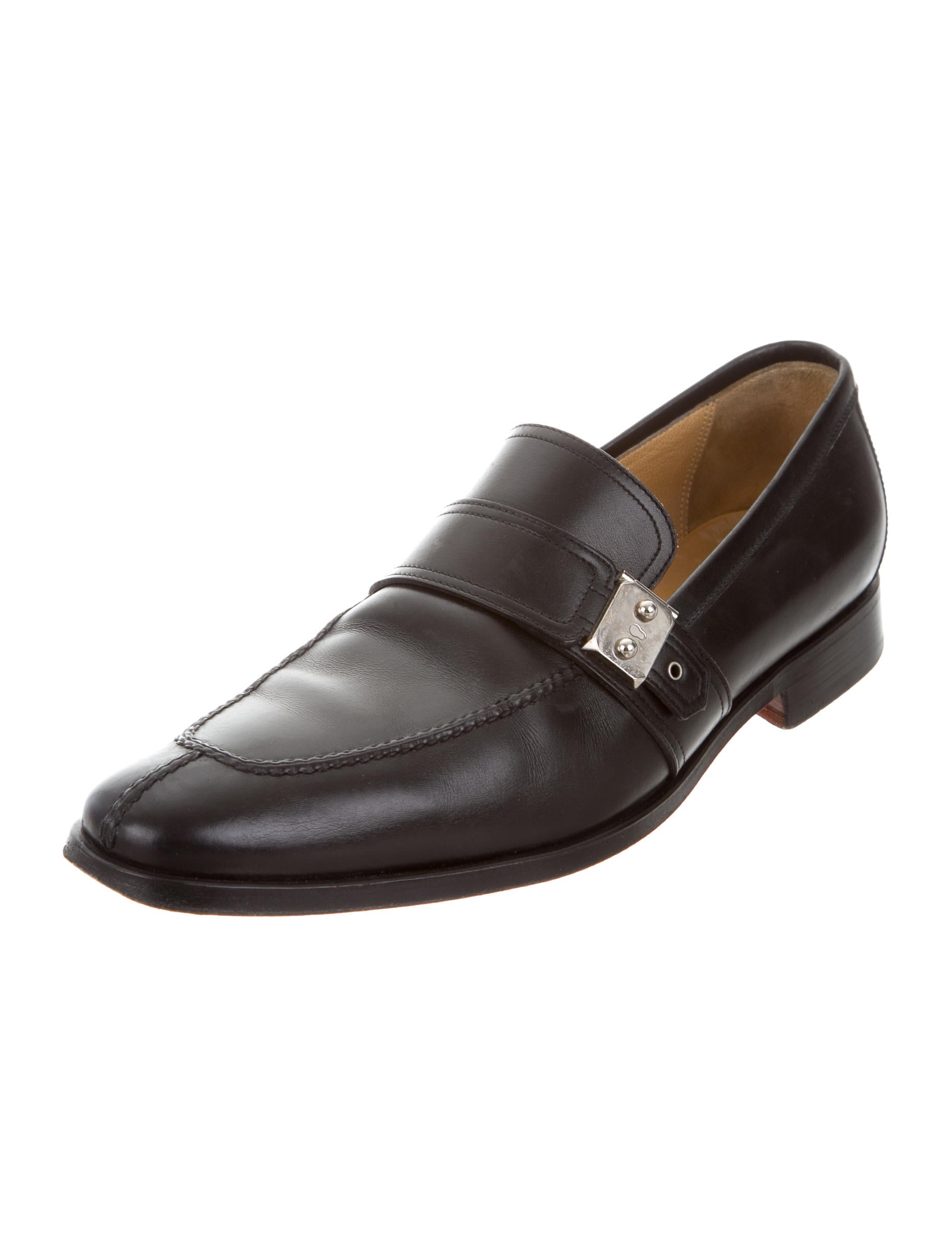 Hermu00e8s Leather Round-Toe Loafers - Shoes - HER106190 | The ...