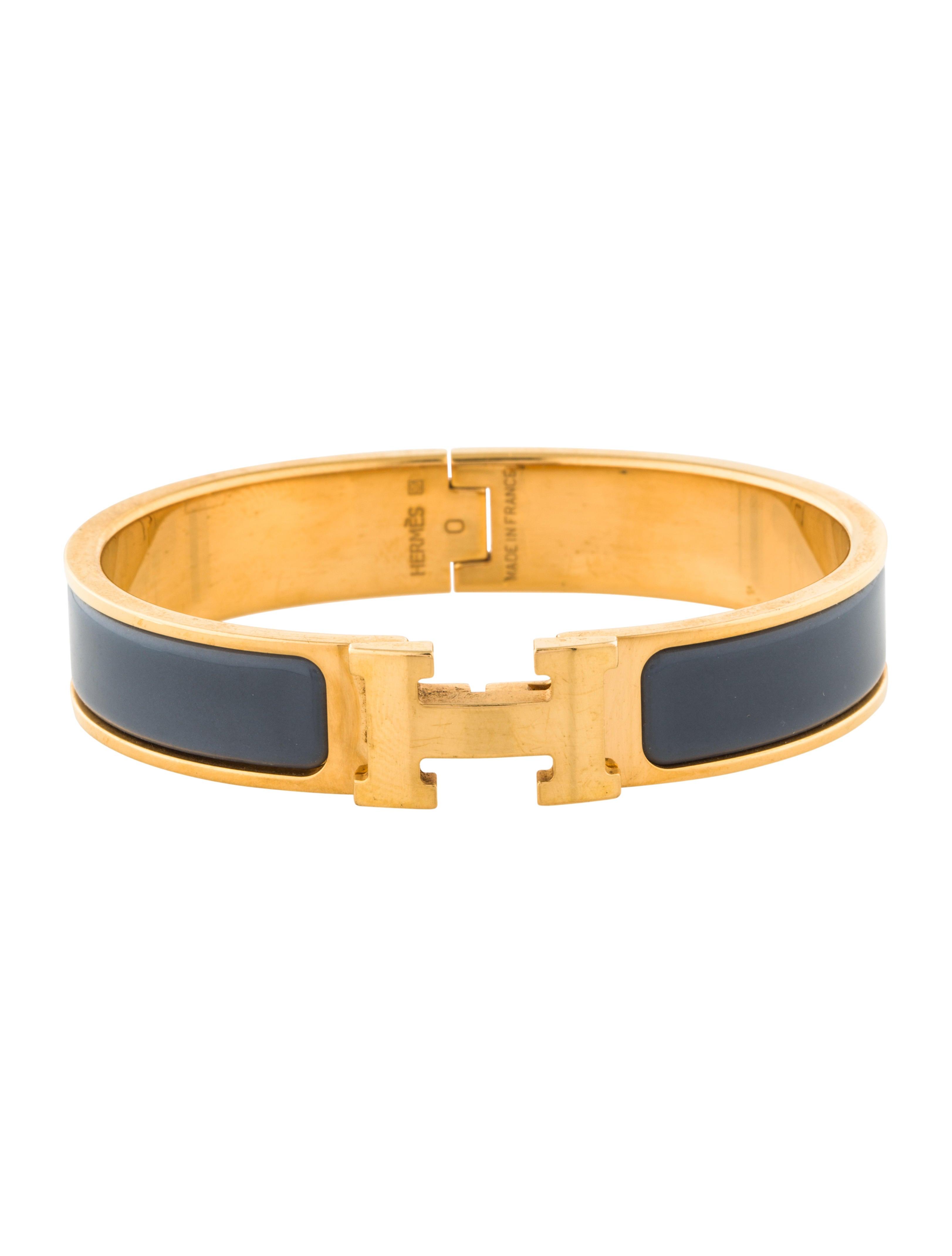 herm 232 s narrow pm clic clac h bracelet bracelets her106468 the realreal