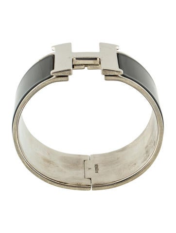 Herm s extra wide clic clac h bracelet bracelets her106847 the realreal - Dimensions clic clac ...