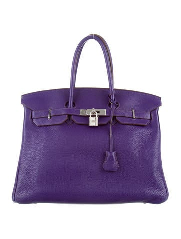 Birkin bag 35 purple