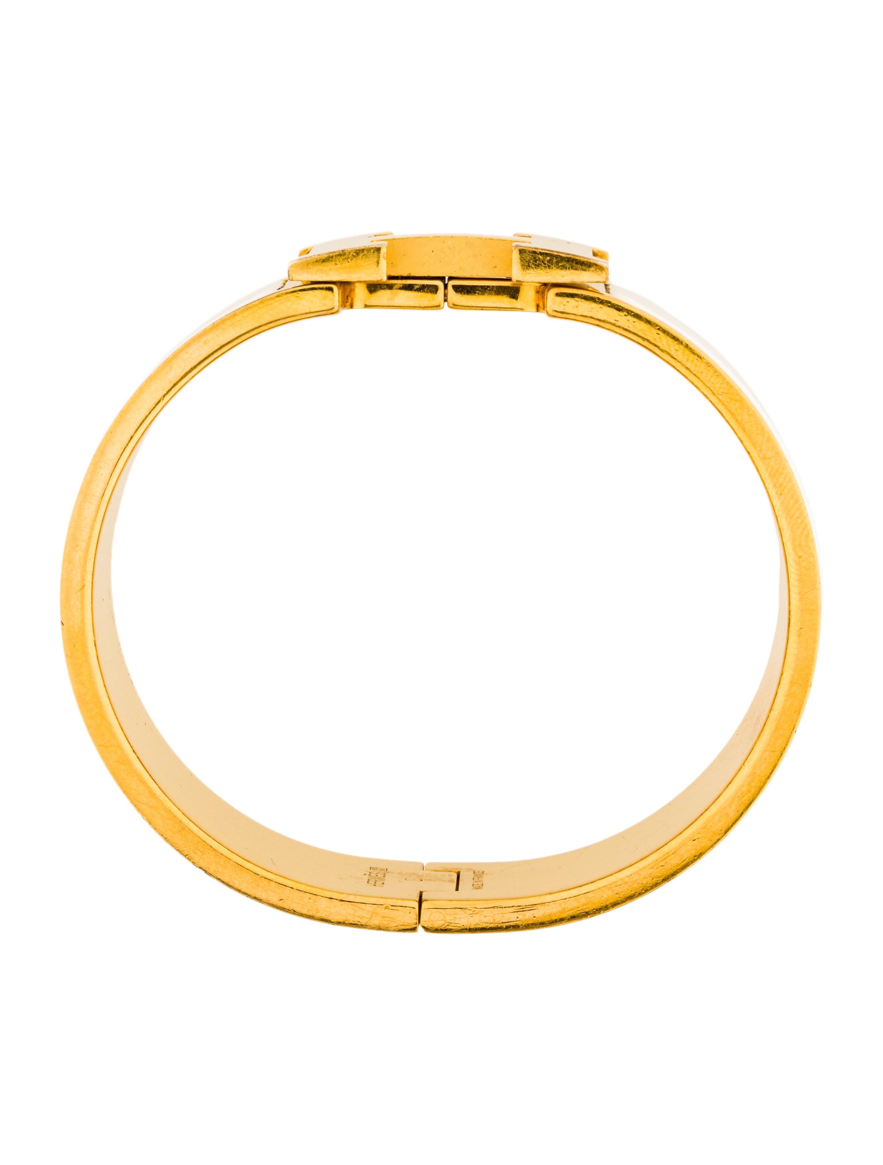 herm s wide clic clac h bracelet bracelets her107925. Black Bedroom Furniture Sets. Home Design Ideas
