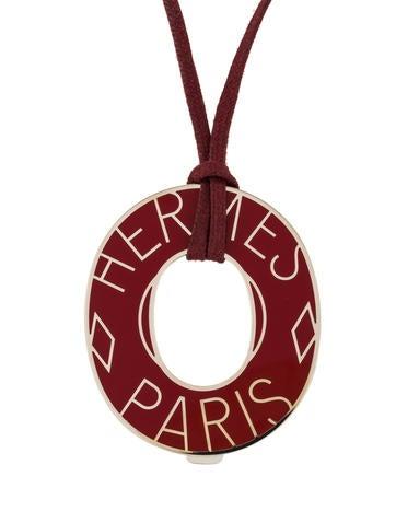 Hermès Ex Libris Pendant Necklace None