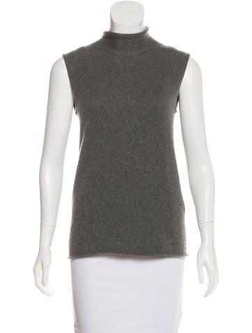 Hermès Sleeveless Cashmere Top None