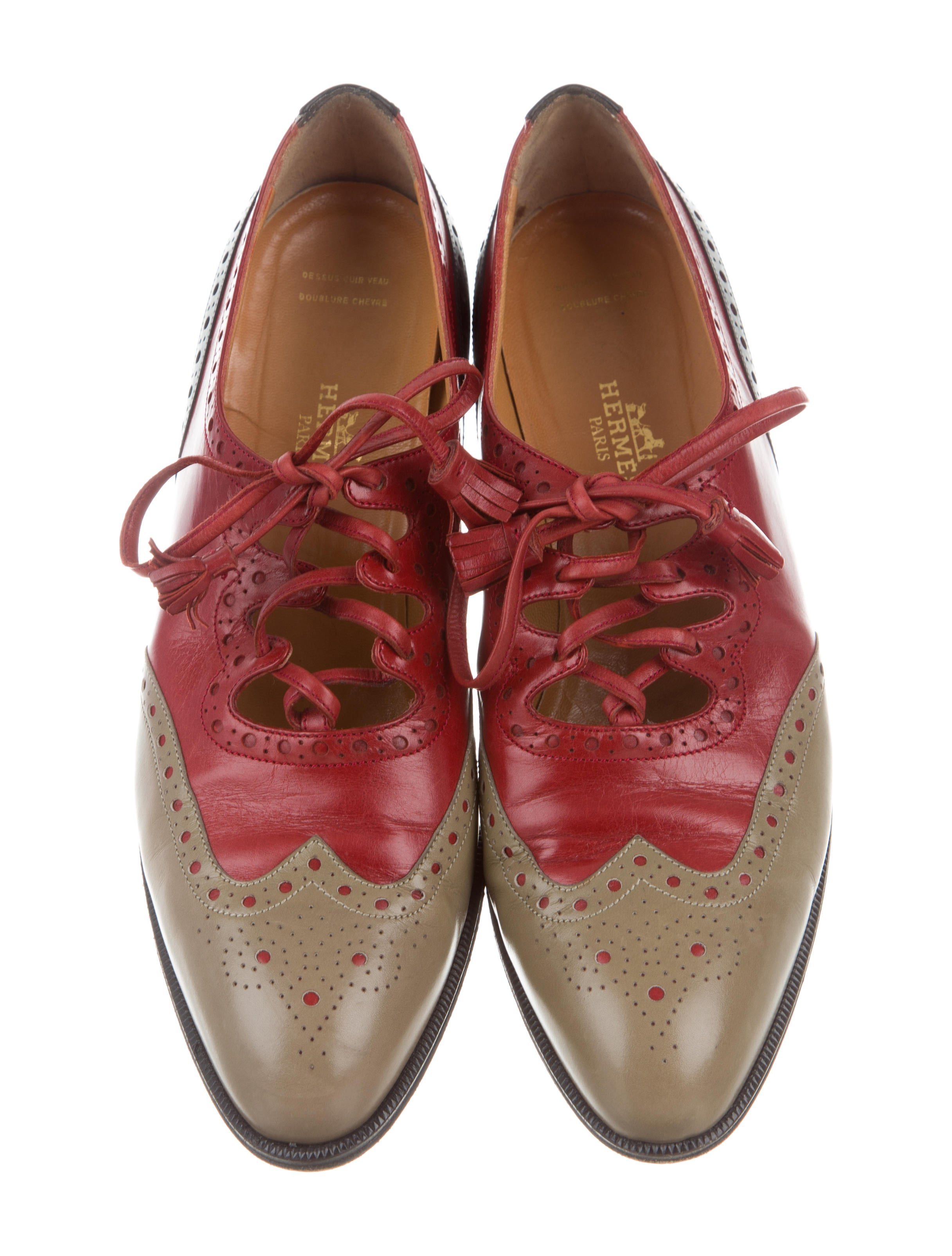 Hermès Leather Bogue Oxfords buy cheap amazing price high quality online D7F70