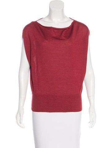 Hermès Cashmere & Silk-Blend Knit Top None