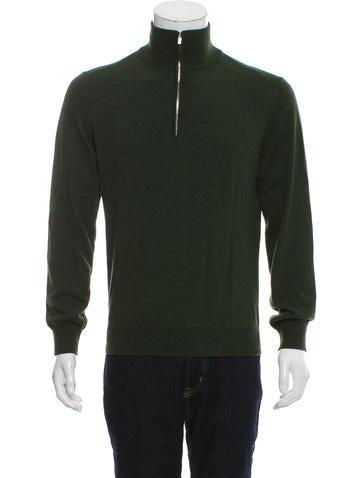 Hermès Cashmere Half-Zip Sweater w/ Tags None