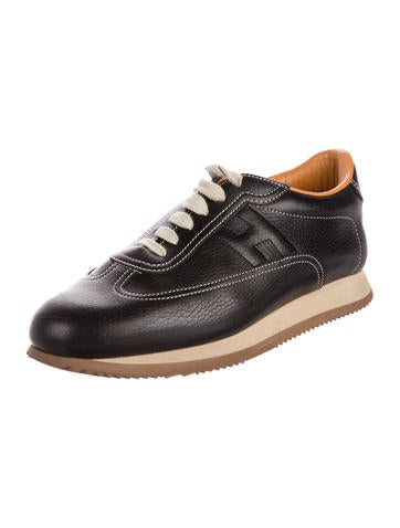 cheap sale high quality Hermès Leather Low-Top Sneakers outlet online outlet Manchester I77fXsZo