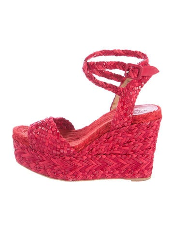 Hermès Woven Wedge Sandals None