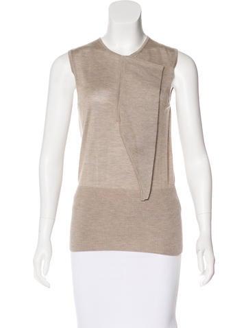 Hermès Cashmere & Silk-Blend Top None