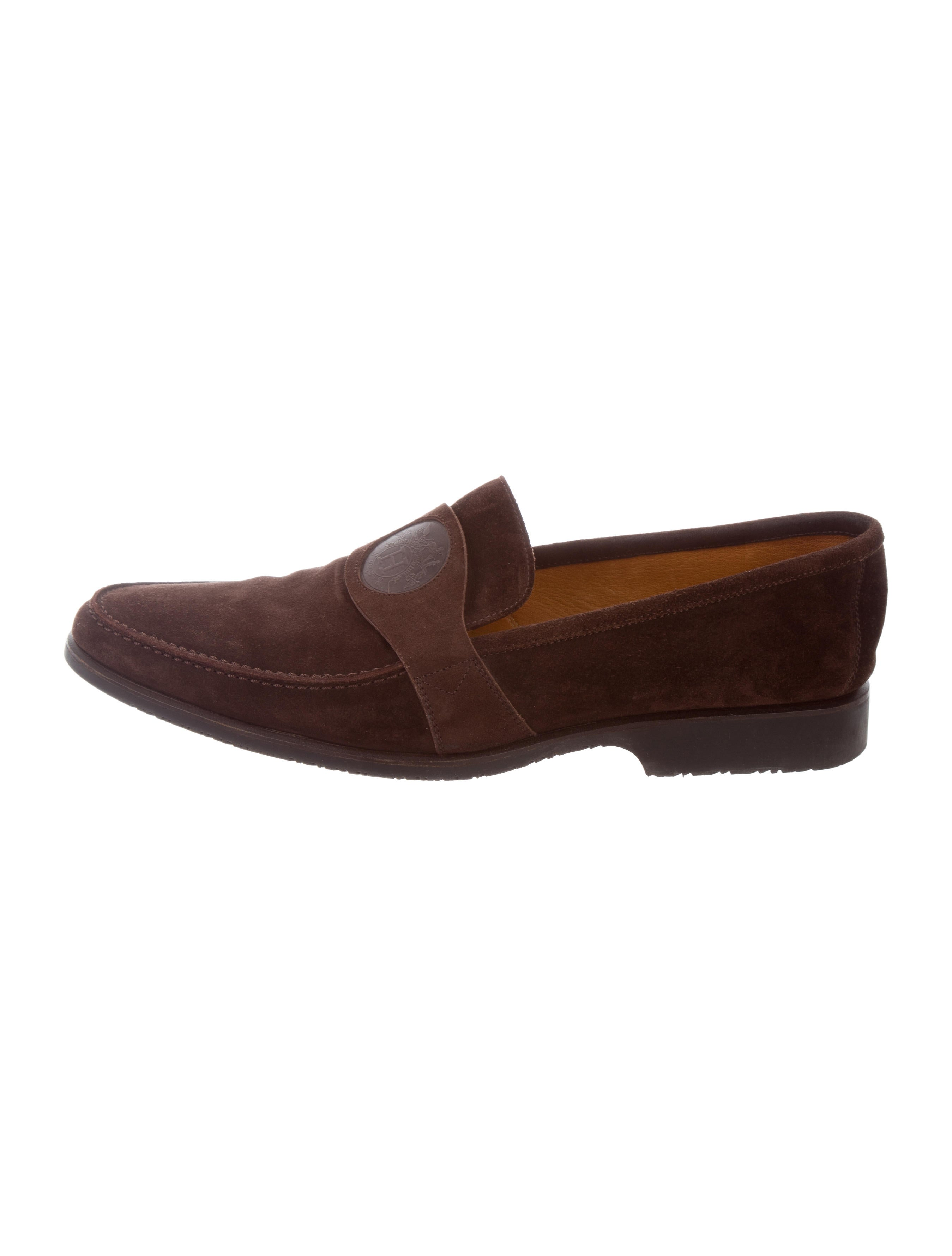 Hermu00e8s Logo Suede Loafers - Shoes - HER116233 | The RealReal