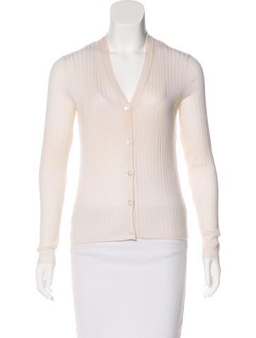 Hermès Rib Knit Cashmere Cardigan None