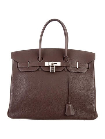 Birkin bag 35 dark brown