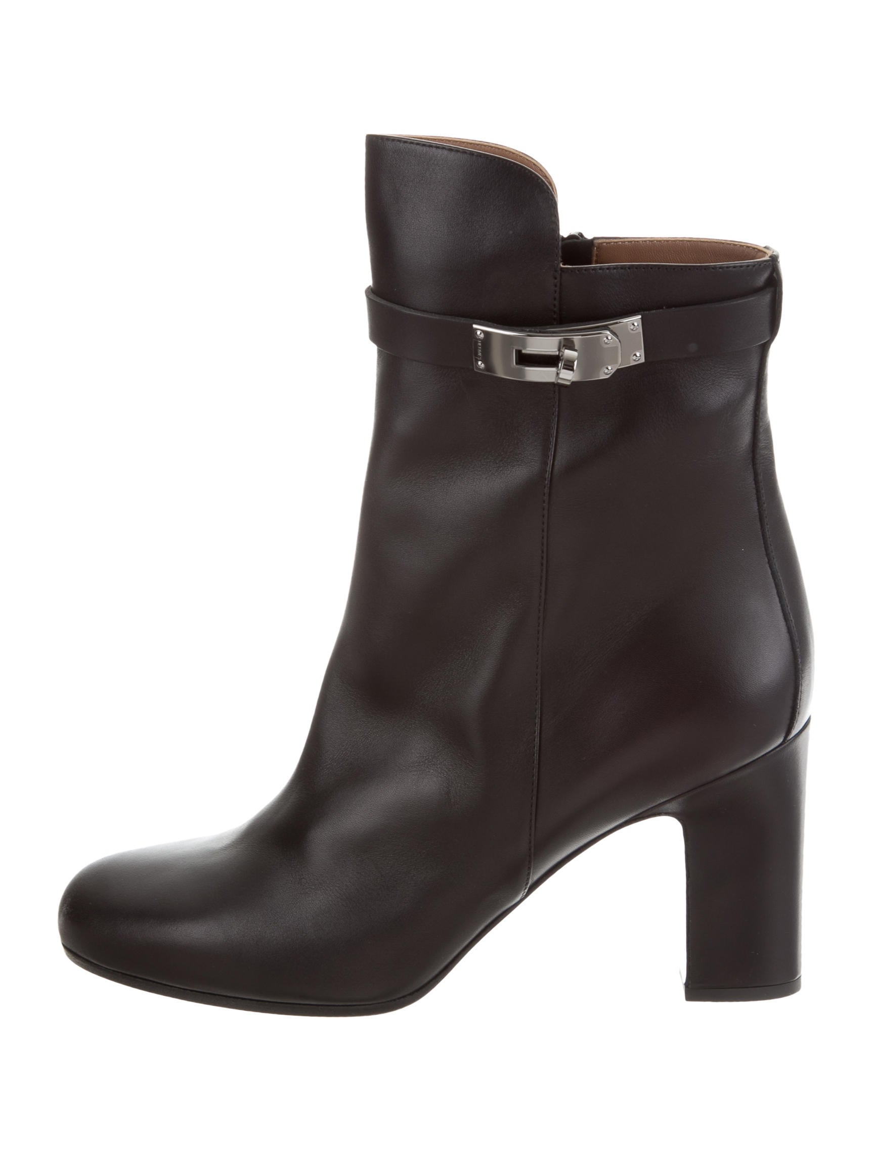 free shipping get authentic discount sast Hermès Joueuse Round-Toe Ankle Boots cheap sale excellent pDV1b
