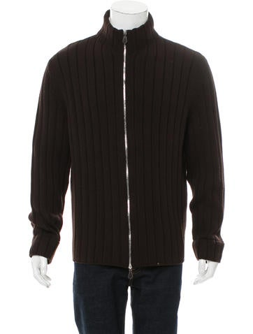 Hermès Wool Rib Knit Cardigan None