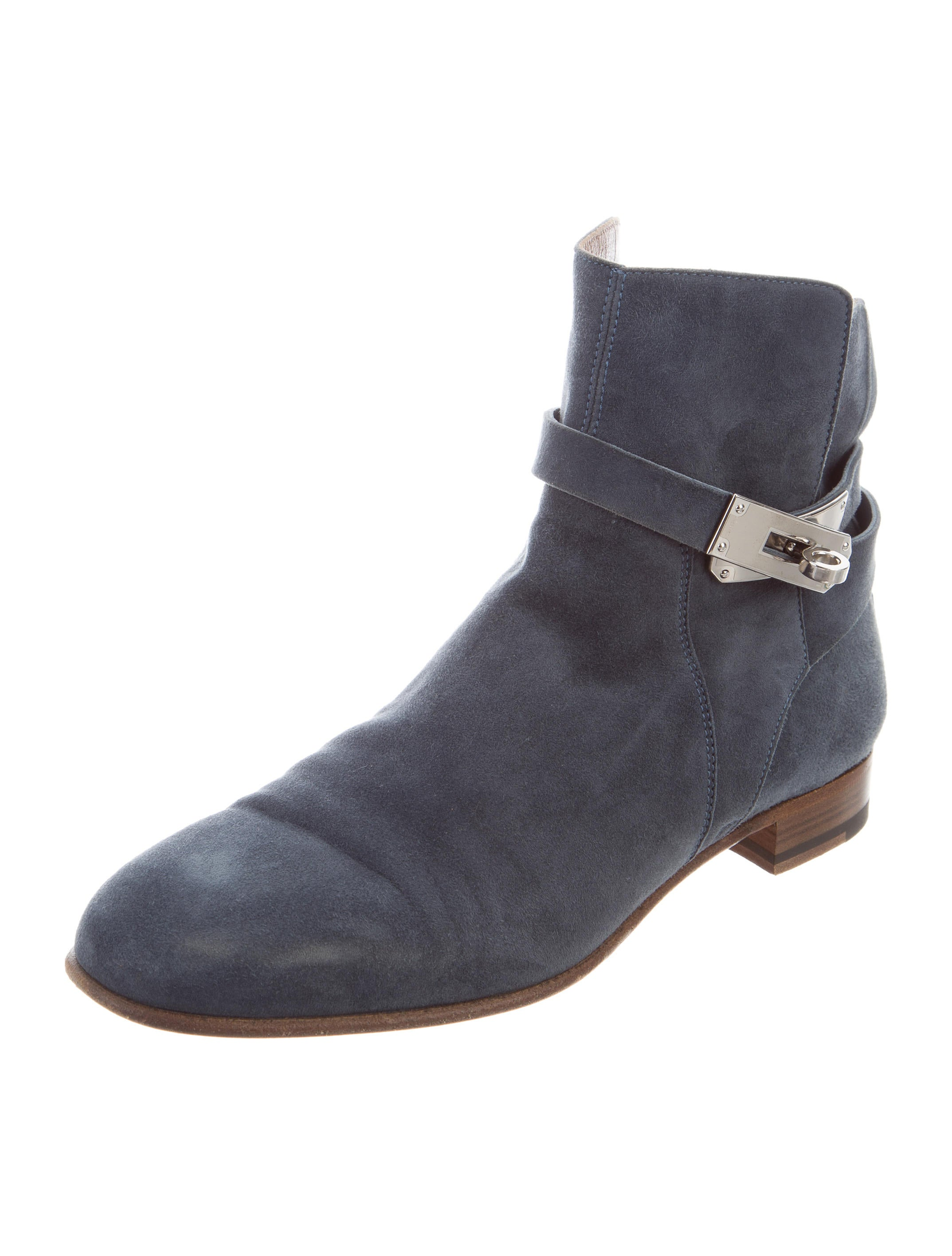 Hermès Neo Suede Round-Toe Ankle Boots cheap wholesale price outlet wide range of NZ7bLbZTe