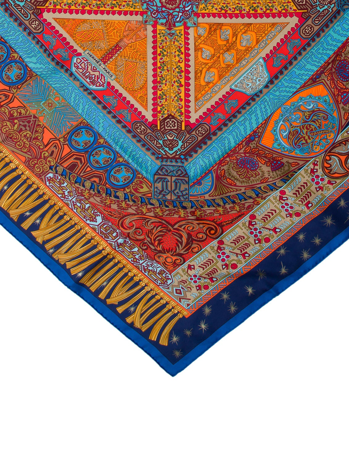 herm s sur un tapis volant silk scarf w tags accessories her119877 the realreal. Black Bedroom Furniture Sets. Home Design Ideas