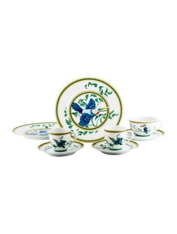 Hermès 8-Piece Toucans Tableware Set None