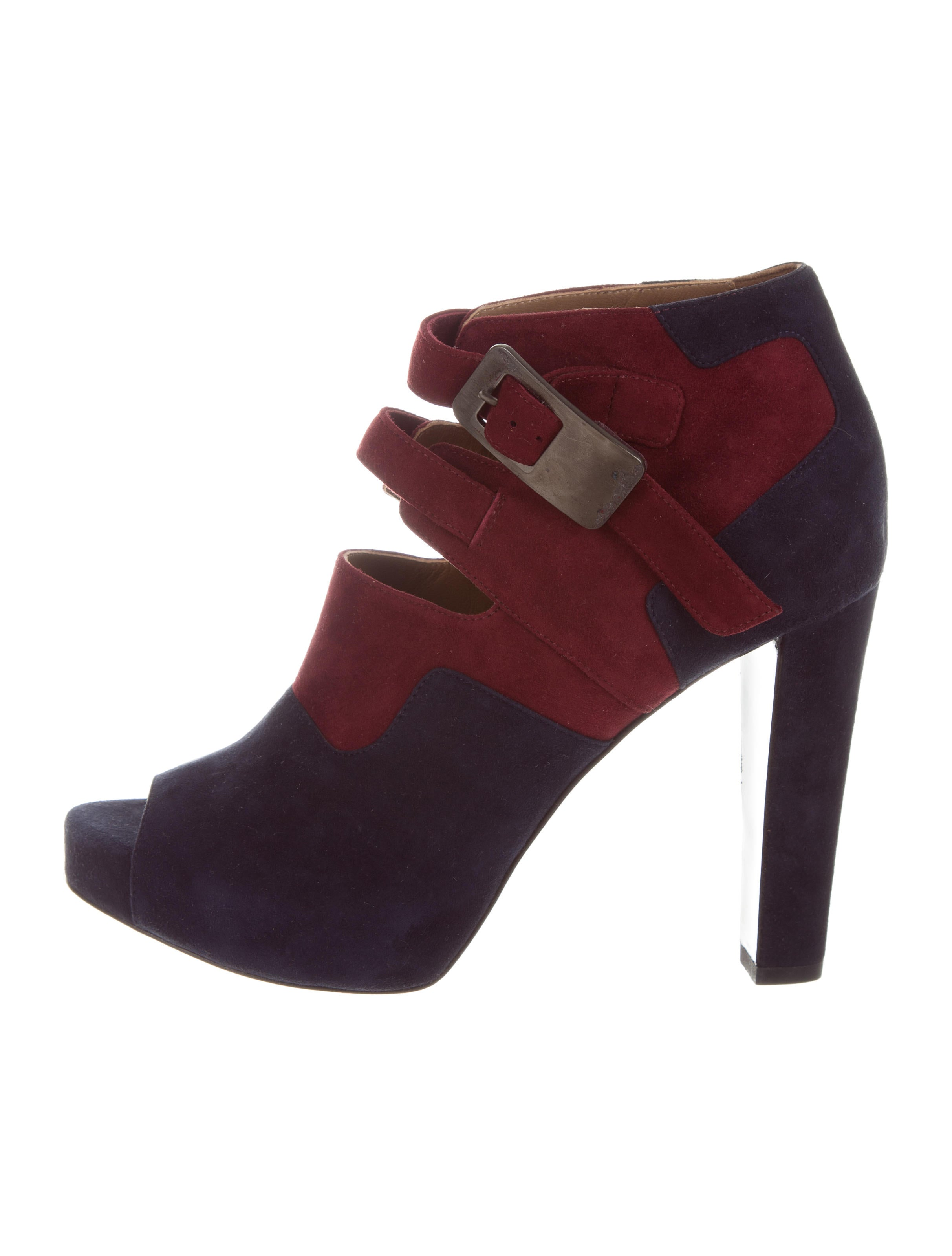 outlet online shop outlet sast Hermès Suede Peep-Toe Ankle Boots outlet genuine free shipping discount xArA2k
