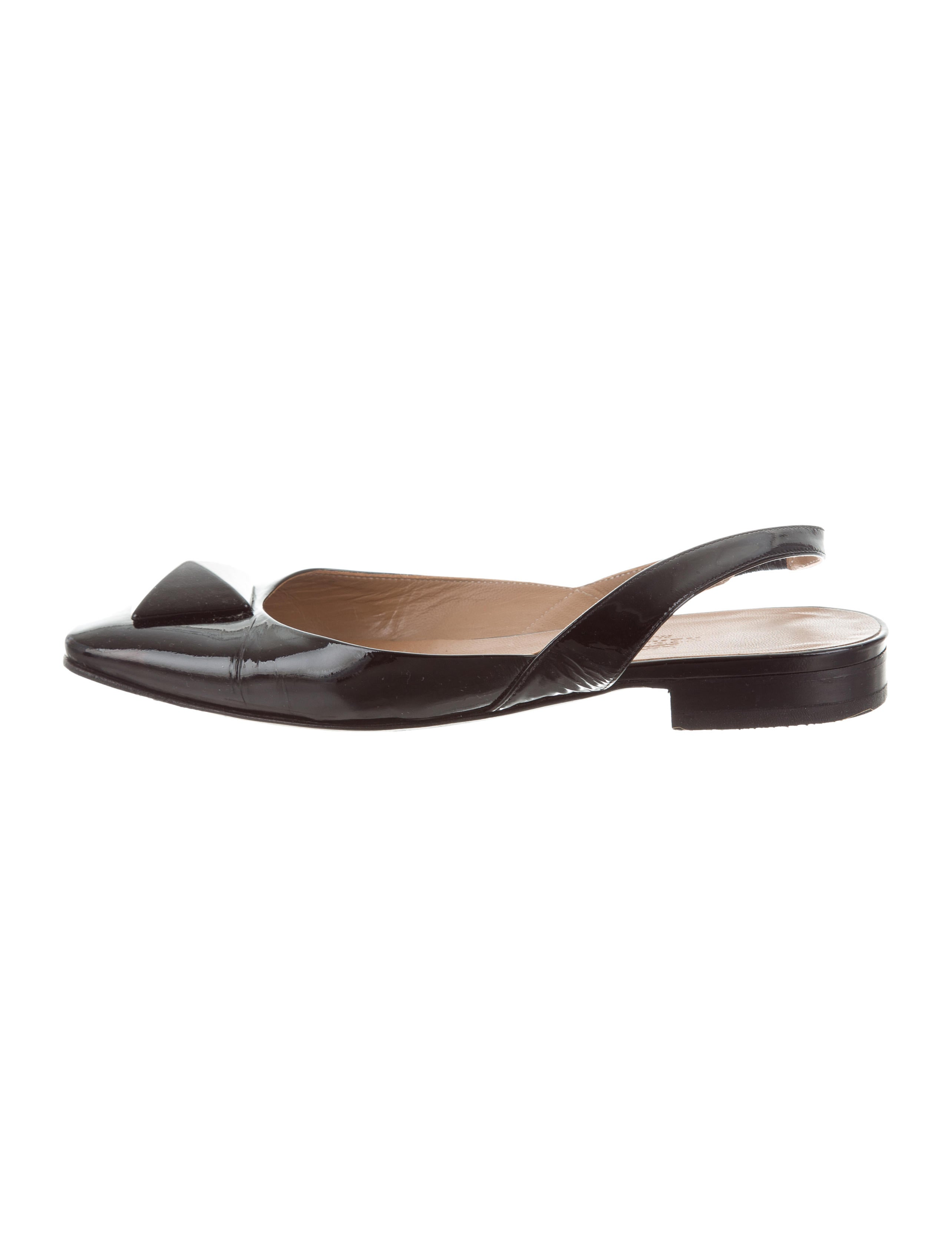 Hermès Square-Toe Slingback Flats free shipping best store to get 7ZsZsrG