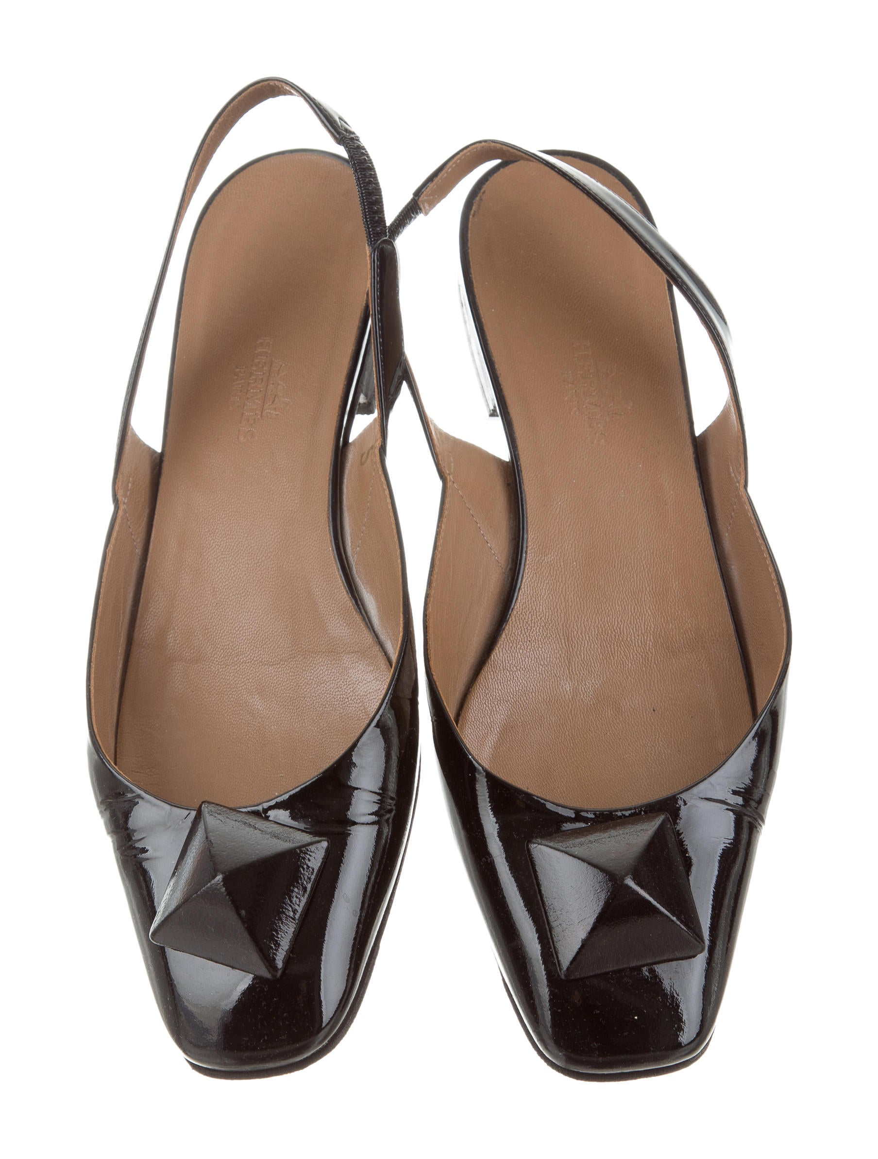 Hermès Square-Toe Slingback Flats nicekicks online pay with paypal sale for cheap AGGmofHHU