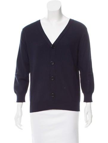 Hermès V-Neck Rib Knit Cardigan None