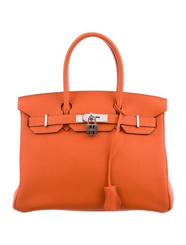 Birkin bag 30 Orange