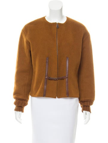 Hermès Structured Camel Hair Jacket None
