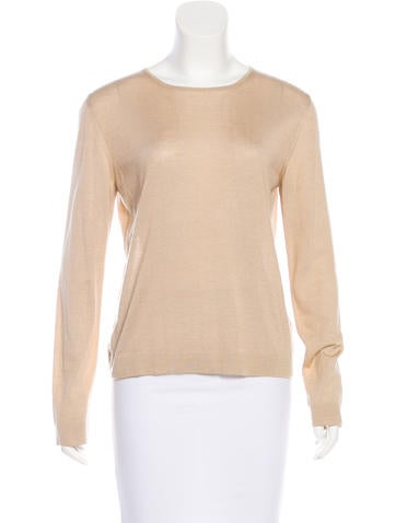 Hermès Cashmere & Silk-Blend Top None