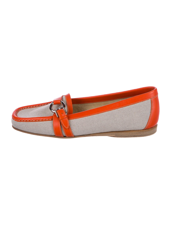 Hermès Woven Square-Toe Loafers cheap sast 32XJKlmjB2