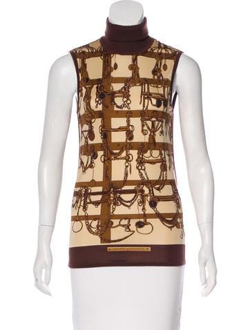 Hermès Wool Mors & Filets Motif Top None
