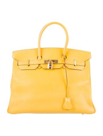 Birkin 35 yellow