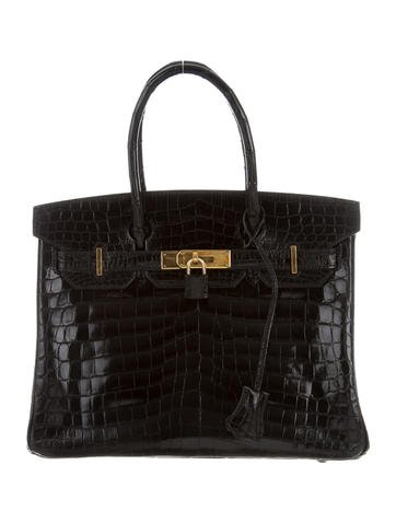 Crocodile Birkin bag 30 Black