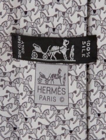 Horse Print Silk Tie