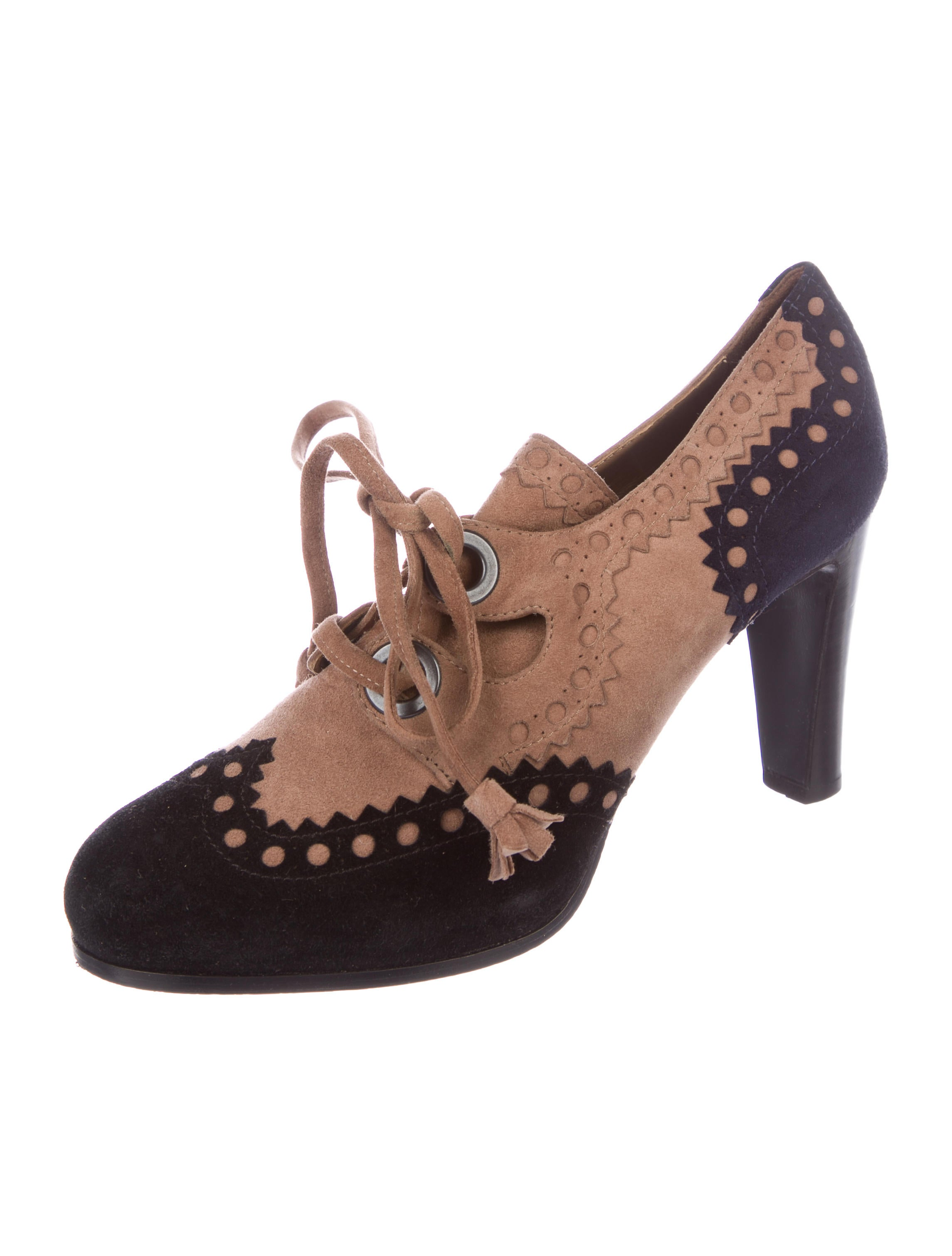 cheap shop offer Hermès Brogue Suede Booties new cheap online discount eastbay ny9EnQBV