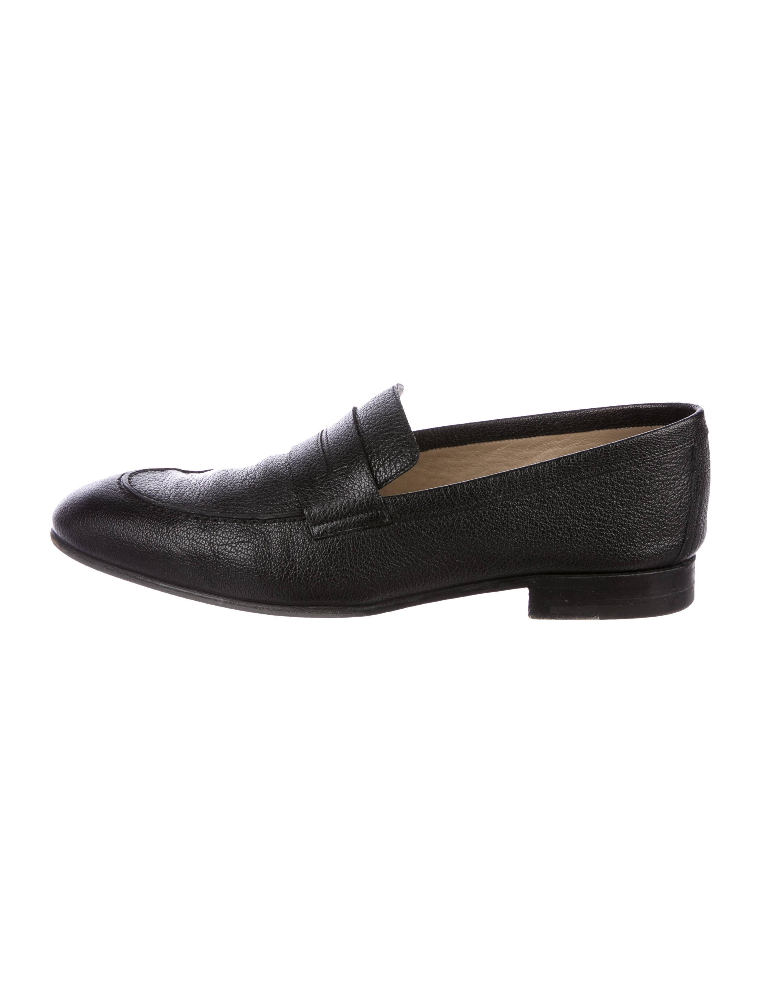 Hermès Leather Round-Toe Loafers sneakernews cheap sale reliable clearance Cheapest cbOTgT2