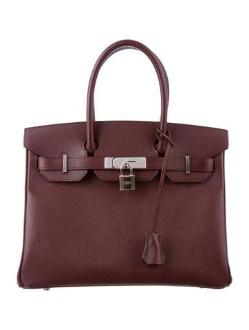 Birkin bag 30 dark brown
