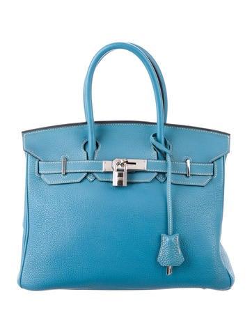 Birkin bag 30 sky blue