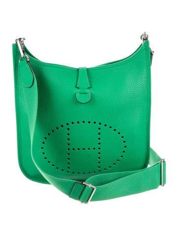 Evelyne Hermes green