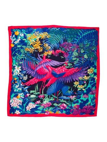 Flamingo Party Cashmere Silk Shawl