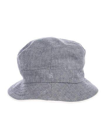 1d42eb4d75d Hermès Chambray Bucket Hat - Accessories - HER147667