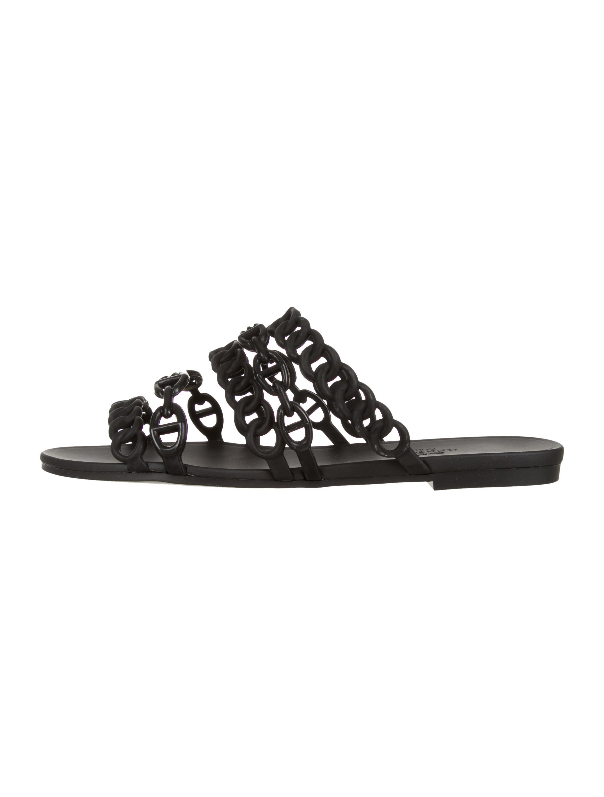 9ffe6a5a12f7 Hermès Chain D Ancre Slide Sandals - Shoes - HER159075