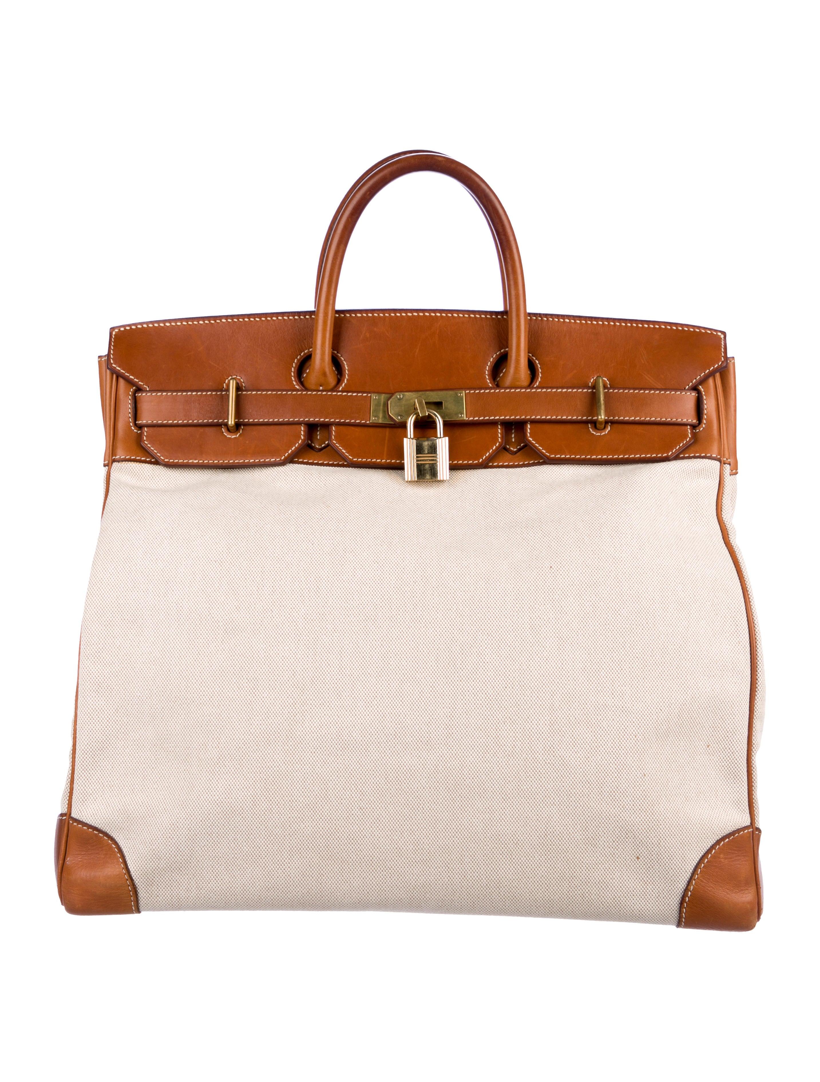 0497bdc1a6af Hermès Toile Natural Barenia HAC Birkin 45 - Bags - HER159878