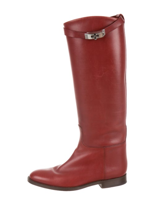 Hermès Leather Knee-High Boots