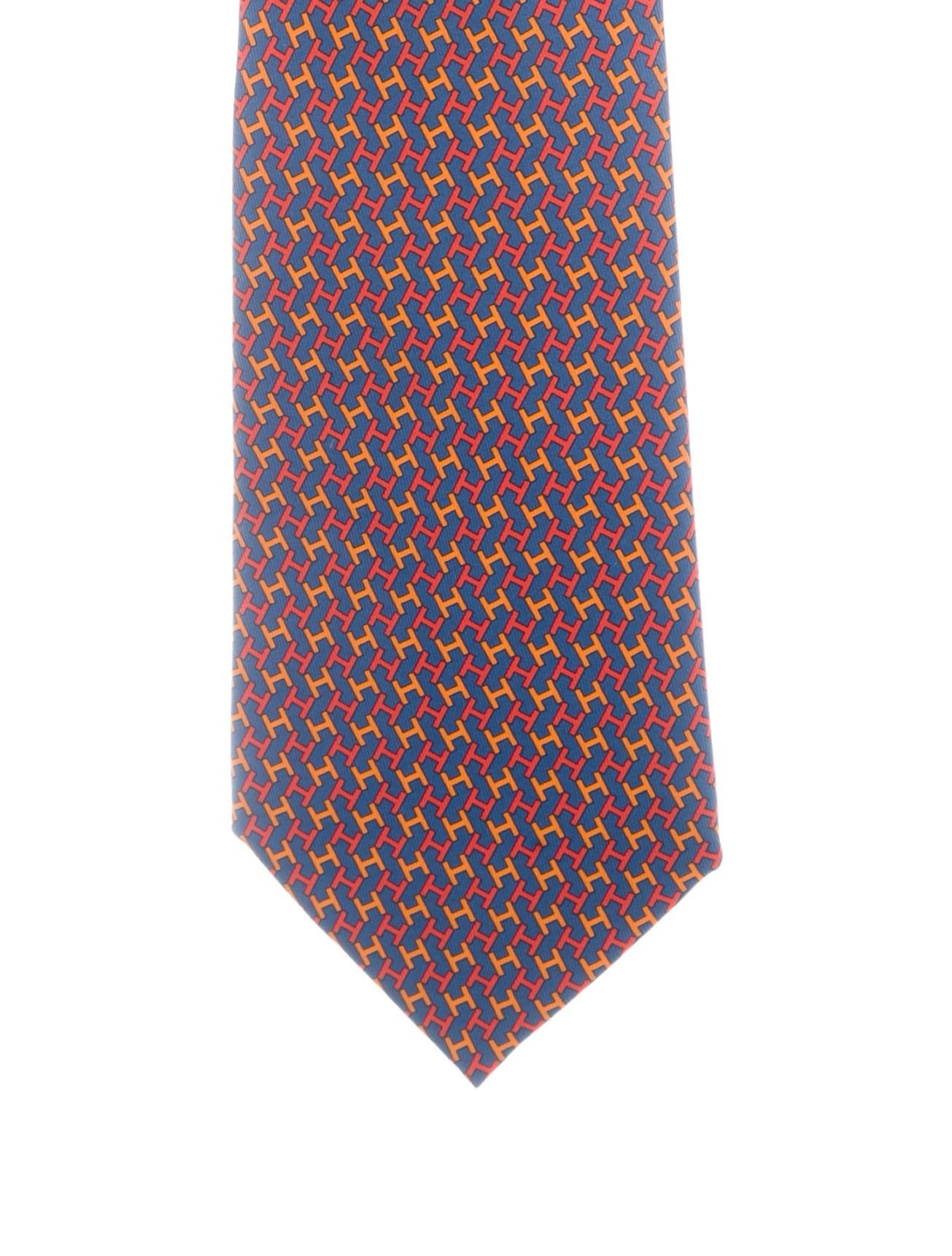 2d65a498ae73 Hermès Silk Façonnée H Logo Tie - Suiting Accessories - HER187576 ...