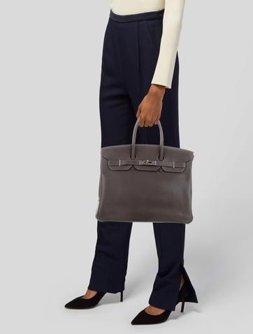 49e9f85e0d28 Hermès Clemence Birkin 35 Hermès Clemence Birkin 35