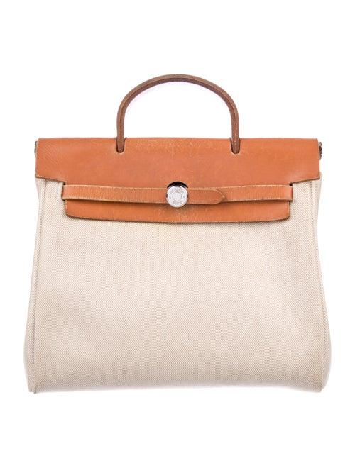 Hermès Toile Herbag Backpack Natural