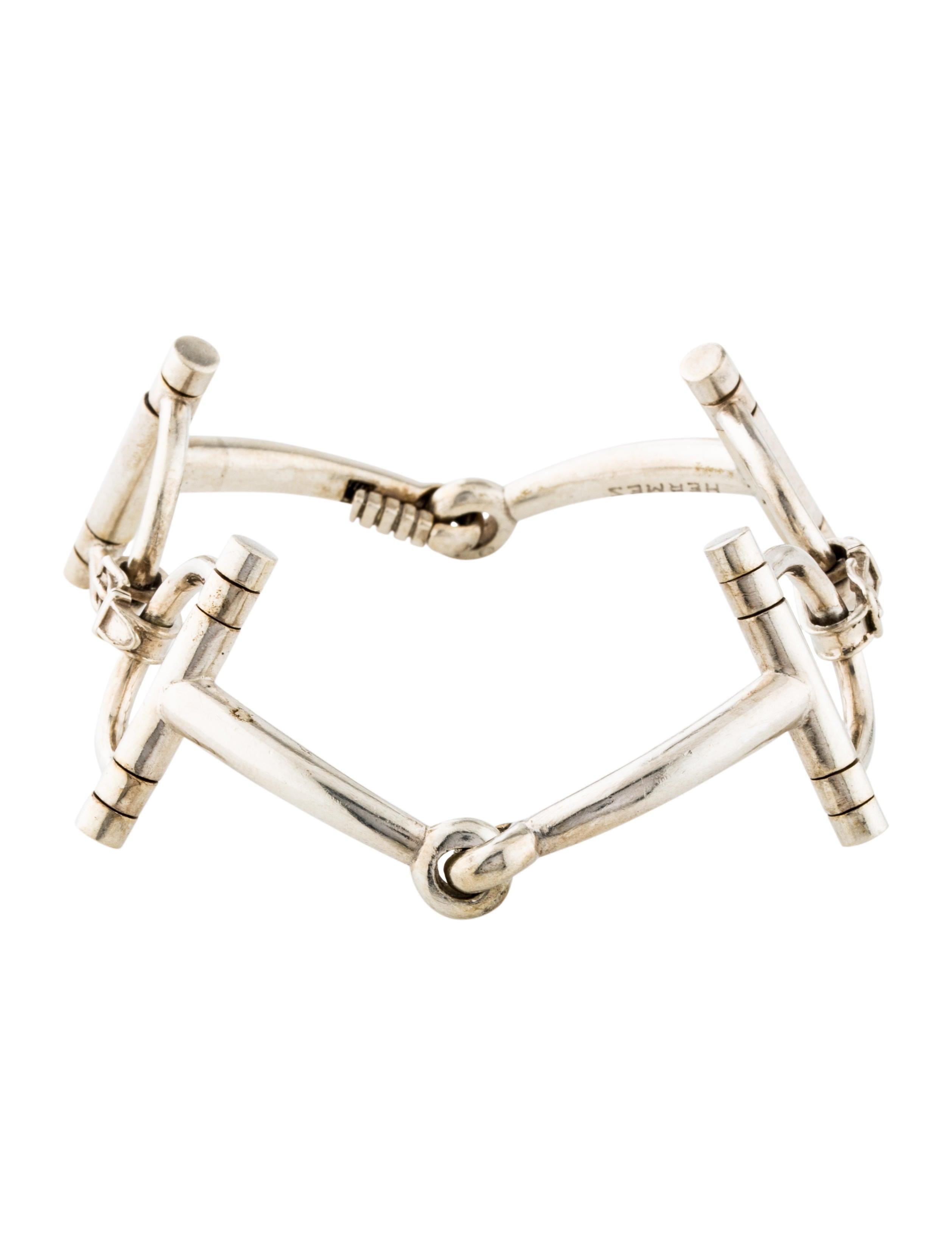 041420dbe Hermès Vintage Filet de Selle Horse Bit Bracelet - Bracelets ...