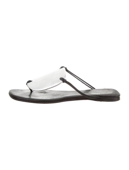 Hermès Embellished Thong Sandals Black