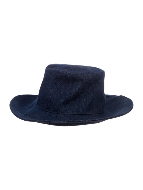 Hermès Rachel Denim Hat blue
