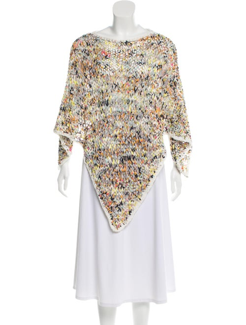 Hermès Silk Knit Poncho multicolor